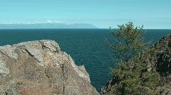Baikal lake. Cape Hoboi Stock Footage