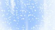 Snow Light Blue 04 keep falling Loop Stock Footage