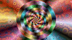 Psychedelic spiral 2 Stock Footage