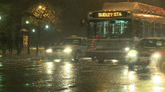 Boston Snow Storm Traffic Close Stock Footage
