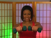 Lovely Young Woman with Hand Weights (3) Stock Footage
