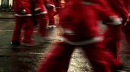 Stock Video Footage of Annual santa dash 2009 (1)