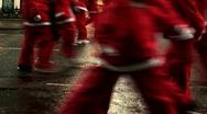 Annual santa dash 2009 (1) Stock Footage