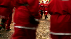 Annual santa dash 2009 (3) - stock footage