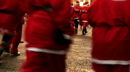 Stock Video Footage of Annual santa dash 2009 (3)
