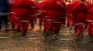 Annual santa dash 2009 (4) Stock Footage