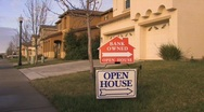 Stock Video Footage of foreclosure open house