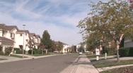 Stock Video Footage of suburbia pan