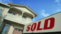 Sold Home Sign - stock footage