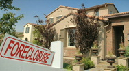 Stock Video Footage of foreclosure home HD