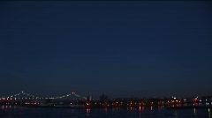Evening timelapse of the Triborough Bridge Stock Footage