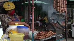 Bangkok street markets Stock Footage