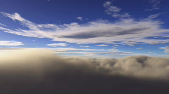 Standing on clouds time lapse - stock footage