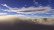 Standing on clouds time lapse Stock Footage