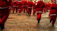 Annual santa dash 2009 (5) Stock Footage
