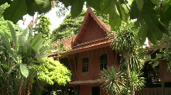 Jim Thompson house and museum Stock Footage