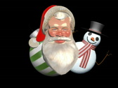Xmas montage with decoration elements Stock Footage