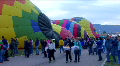 Hot Air Balloons On Ground & Crowd Of People Footage
