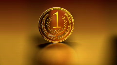 Gold medal, matte, LOOP Stock Footage