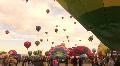 Hot Air Balloon Mass Ascension HD Footage