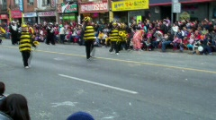 Bee costum parade Stock Footage