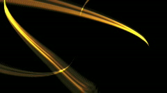 YELLOW ENERGY LINES 3D Stock Footage