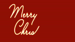 merry christmas looping text on red - stock footage