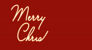 Merry christmas looping text on red Stock Footage
