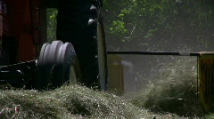 Hay windrows with a tractor Stock Footage
