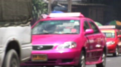 Bangkok road traffic Stock Footage