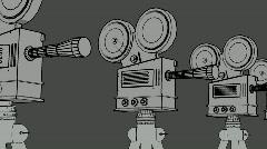 Film Camera Cartoon Stock Footage