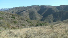 Mountains In Chaparral Stock Footage