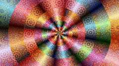 Psychedelic spiral 3 Stock Footage