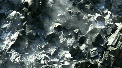 Smoldering Fire In Chaparral Stock Footage