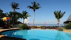 Resort Swiming Pool - stock footage