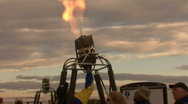 Hot Air Balloon Propane Burner Stock Footage