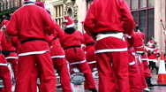 Annual santa dash 2009 (8) Stock Footage