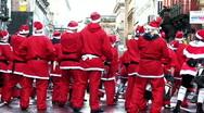 Annual santa dash 2009 (9) Stock Footage