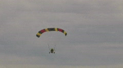 Flying Powered Parachute overhead track M HD Stock Footage