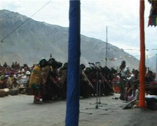 Folk dance ladakh women2 Stock Footage