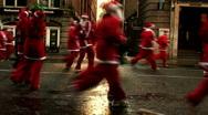 Annual santa dash 2009 (12) Stock Footage