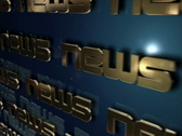 News in bold text Stock Footage