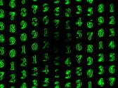 Video loop with streaming green numbers Stock Footage