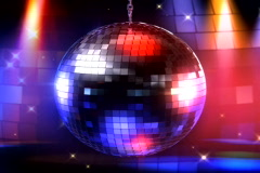 Disco ball video loop Stock Footage