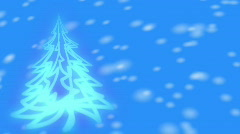 Blue Christmas Tree Stock Footage