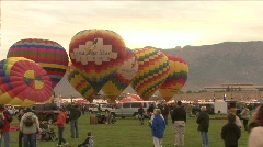 Hot Air Balloon Lifts Off At The Mass Ascension Stock Footage