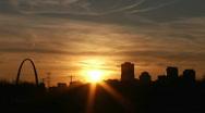 St. Louis Sunset Stock Footage