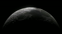 Moon Spin Realistic Fit Width Loop Stock Footage