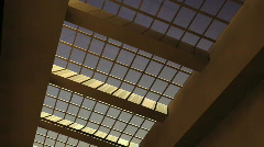 Glass ceiling fixed Stock Footage