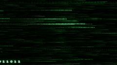 Green Data Stream (Horizontal) Stock Footage